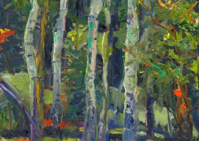 Margie Moss Impressionist Paintings Aspen Grove