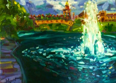 Margie Moss Impressionist Paintings Plaza Kansas City
