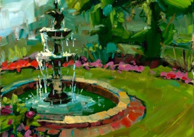 Margie Moss Impressionist Paintings Fountain Gilcrease Museum