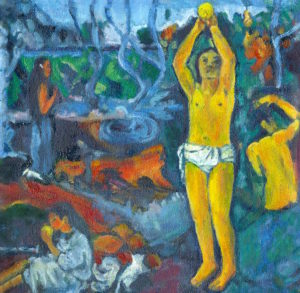 Margie Moss Impressionist Paintings Gaugin's Where Did We Come From