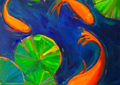 Margie Moss Impressionist Paintings Coi Fish