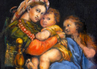 Margie Moss Impressionist Paintings Raphael Madonna of the Chair