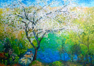 Margie Moss Impressionist Paintings Dogwood