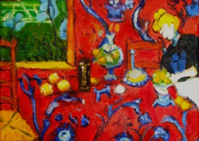 Margie Moss Impressionist Paintings Matisse Harmony Red