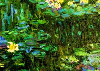 Margie Moss Impressionist Paintings Money Waterlillies