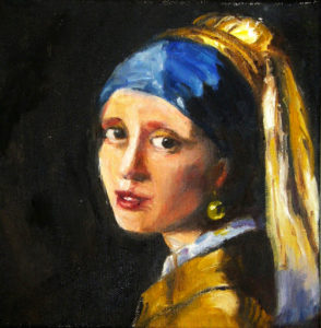 Margie Moss Impressionist Reproductions Girl Pearl Earring Tennis Ball