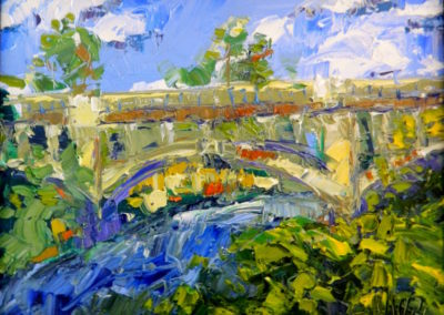 Margie Moss Impressionist Paintings Redings Mill Bridge