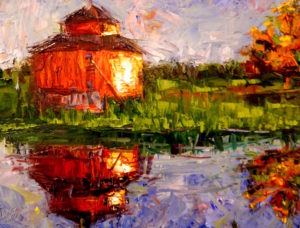 Margie Moss Impressionist Paintings Red Barn Saginaw