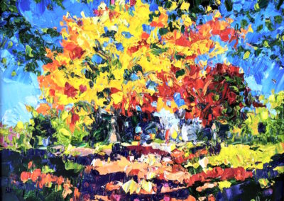 Margie Moss Impressionist Paintings Tree