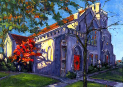 Margie Moss Impressionist Paintings St. Philip's Church