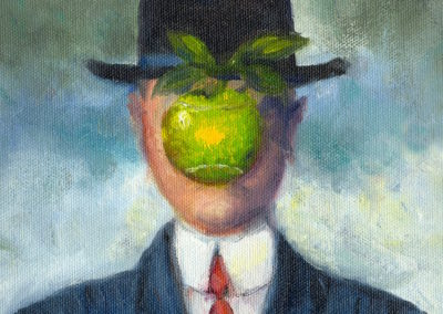 Margie Moss Impressionist Paintings Magritte Son of Man