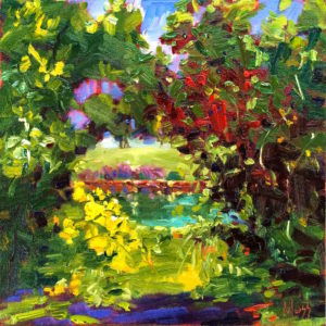 Margie Moss Impressionist Paintings Pond