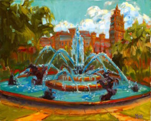 Margie Moss Impressionist Paintings Fountain Kansas City