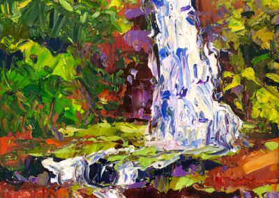 Margie Moss Impressionist Paintings Waterfall