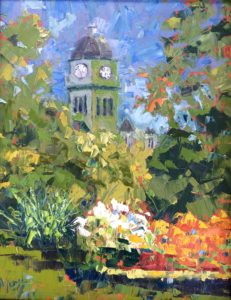 Margie Moss Impressionist Paintings Carthage Courthouse