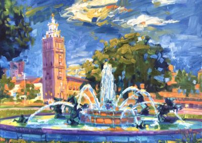 Margie Moss Impressionist Paintings Kansas City Royals Nichols Fountain