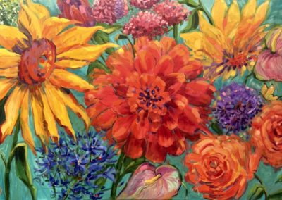 Margie Moss Impressionist Paintings Dahlia