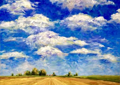 Margie Moss Impressionist Paintings Kansas Sky