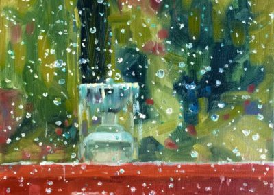 Margie Moss Impressionist Paintings Rain