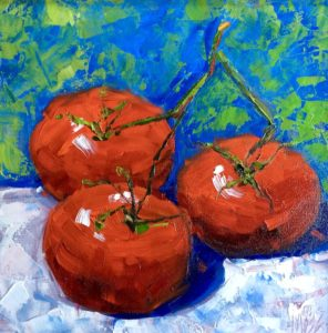 Margie Moss Impressionist Paintings Red Tomatoes