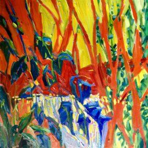 Margie Moss Impressionist Paintings Waterfall