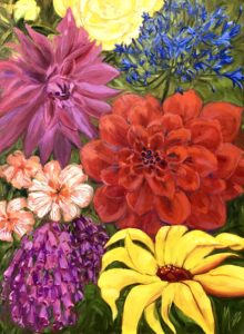 Margie Moss Impressionist Paintings Garden Flowers