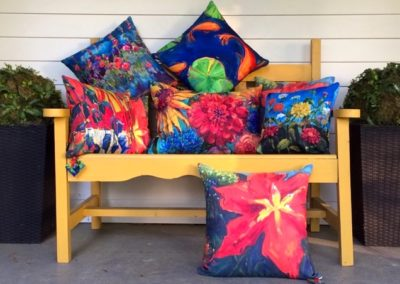 Margie Moss Custom Art Painted Pillows